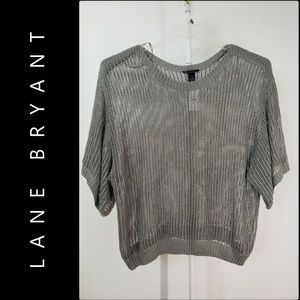 Lane Bryant Woman Crochet Short Sleeve Top Blouse